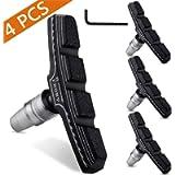 Hyacinth 4PCS Premium Bike Brake Pads, Professional Mountain and Road Bicycle V-Brake Pads, Bike Brake blocks Kit, for…