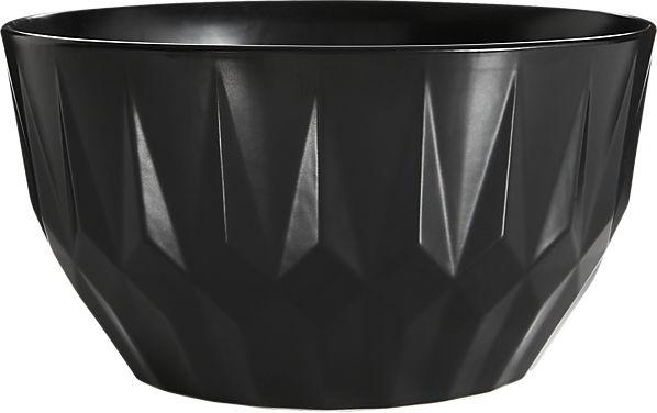 facet black large serving bowl | CB2