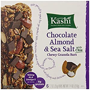 Kashi Chewy Granola Bars, Chocolate Almond and Sea Salt with Chia, 7.4 oz