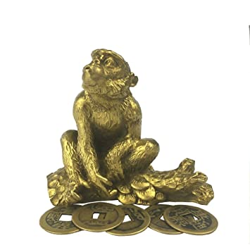 Amazon De Brass Statu Lampion Feng Shui Chinesische Monkey Affe