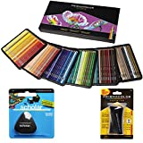 Prismacolor Colored Pencils Box of 150 Assorted Colors, Triangular Scholar Pencil Eraser and Premier Sharpener (1800059+VE99016+1774265)