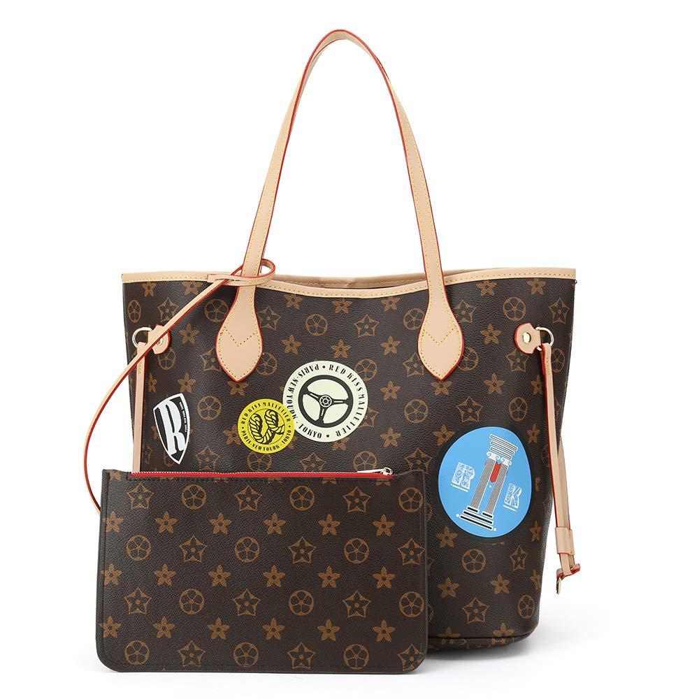 Handbags for Women Shoulder Bags Tote Satchel Hobo 3pcs Purse Set Apricot