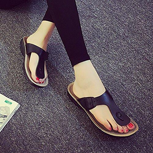 Sandales Mixte Homme Femme Plage Flip Flop Noir Chaussures Adulte Tongs de Été rrxqwfS