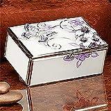 StealStreet SS-A-38109 Butterfly Jewelry Box, Creamy Lavender