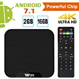 Android TV Box - VIDEN Android 7.1 TV BOX, Smart Android box, Amlogic Octa Core, 2GB RAM, 16GB ROM, 4K Ultra HD, H.264 WIFI 2.4GHz with remote control