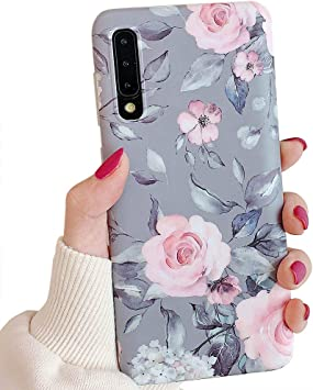 Amazon Com Samsung Galaxy A50 Phone Case For Women Girls Yelovehaw Flexible Soft Slim Fit Full Around Protective Cute Case Cover With Purple Floral Gray Leaves Pattern For Samsung Galaxya50 6 4 Pink Flowers Electronics
