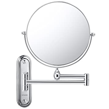 Spaire Wall Mounted Makeup Mirror,7X Magnifying Bathroom Mirror,Swing Arm,8  Inch
