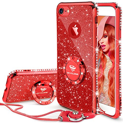 girls iphone 7 case glitter