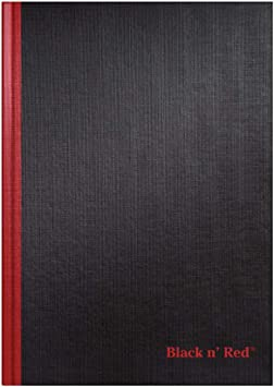 Black n/' Red  Ruled Hardcover Business Notebook Business Notebooks