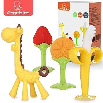 Amazon.com: ANGELBLISS - Juego de juguetes para dentición de ...