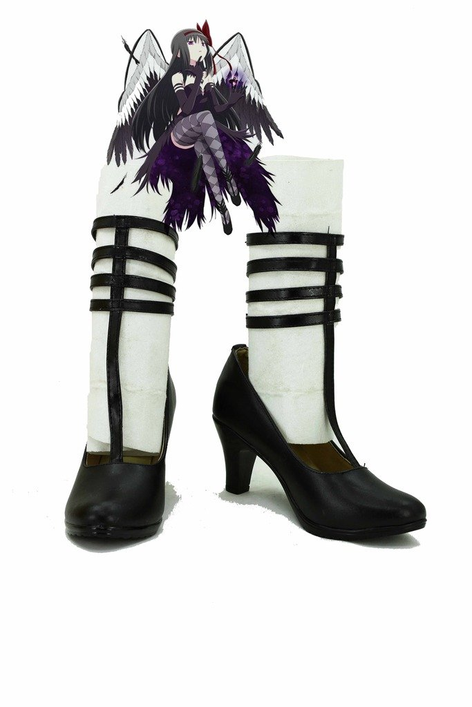 Puella Magi Madoka Magica Homura Akemi Devil-Version Shoes Boots Custom Made Black 8.5 B(M) US Female