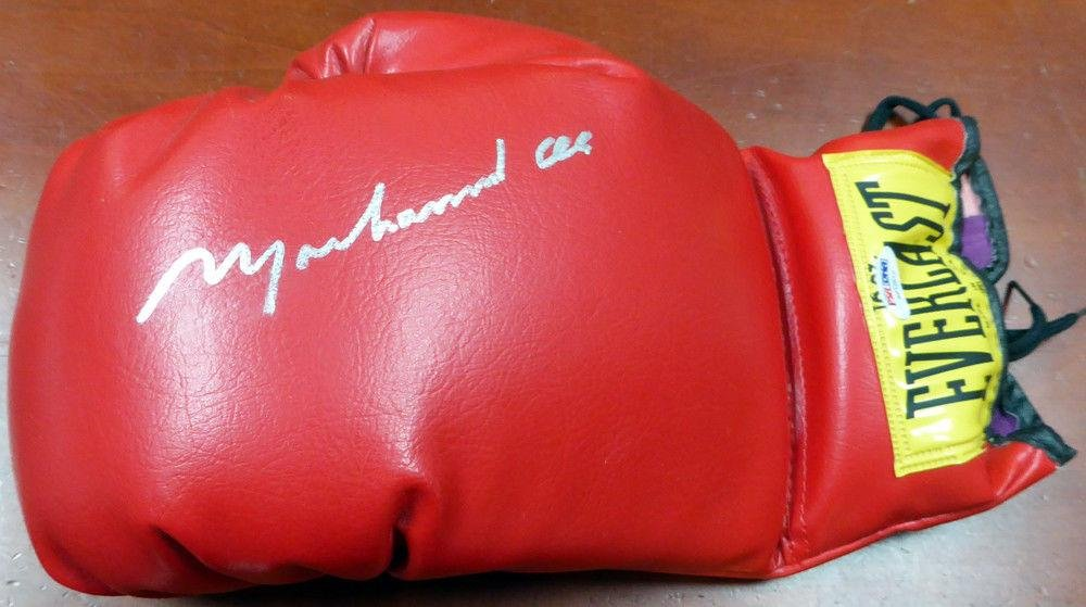 Muhammad Ali Authentic Autographed Signed Everlast Boxing Glove #AB12512 PSA/DNA Certified Autographed Boxing Gloves