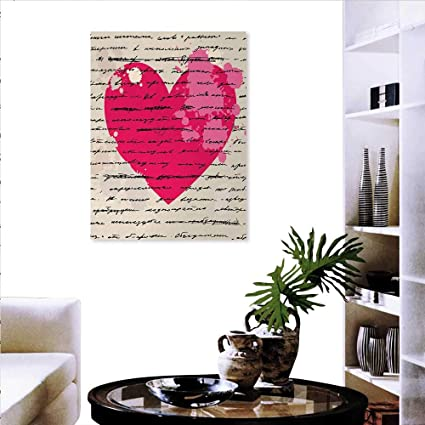 Amazon Com Love Print On Canvas Wall Decor Heart Design Elements