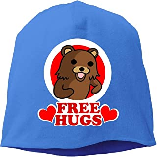 GONIESA Bear Free Hugs Beanies Caps Skull Hats Unisex Soft Cotton Warm Hedging cap,One Size