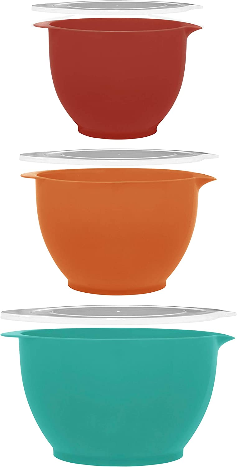 Gourmet Home Products Batter Bowls, 6-pc set, Teal