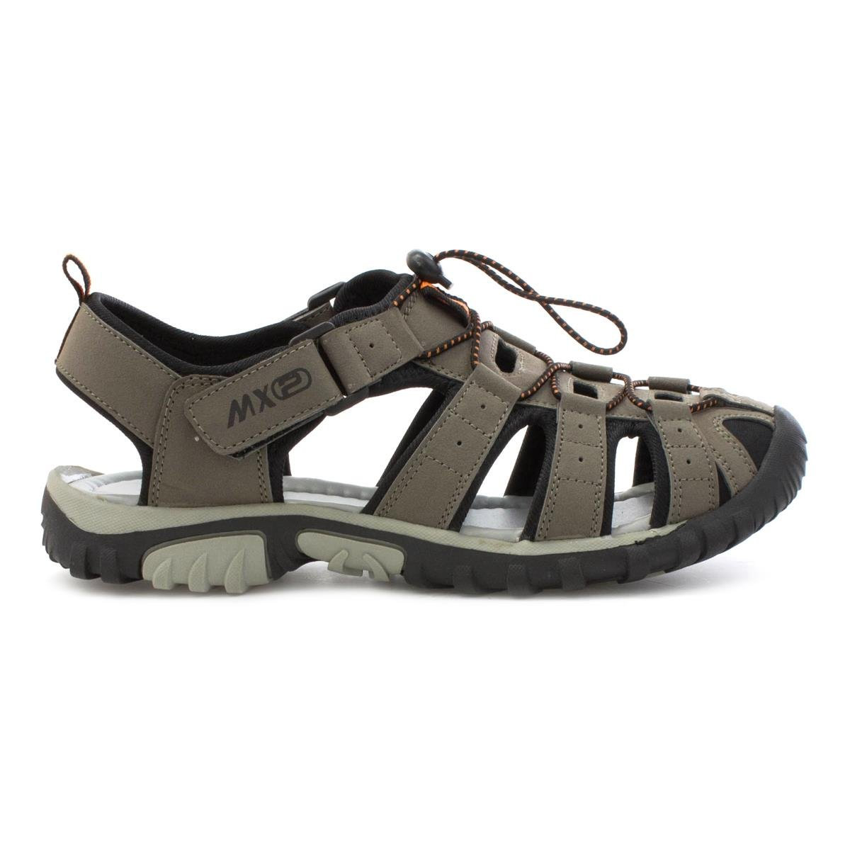 13975b0949b Mercury Mens Closed Toe Strappy Sandal in Grey  Amazon.co.uk  Shoes   Bags