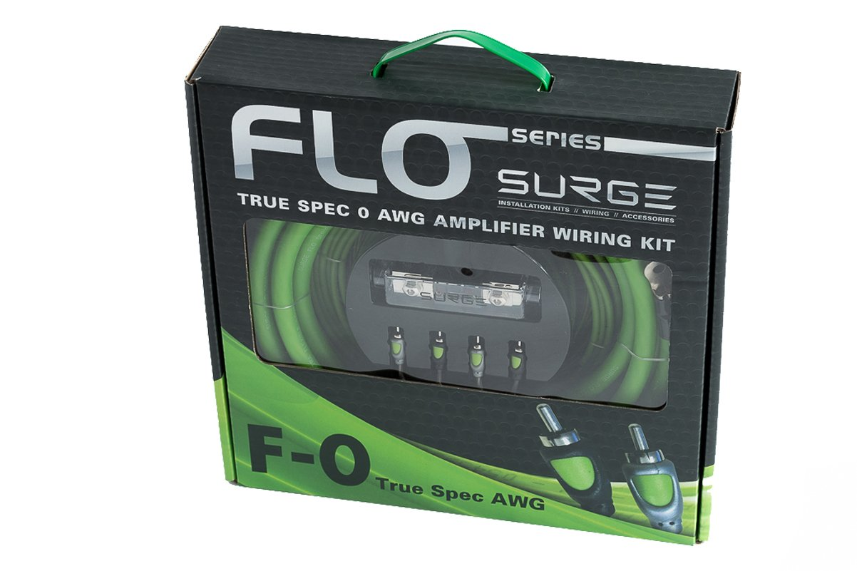 Surge F-0 Flo Series by 0 Gauge 5000W Awg Amplifier Installation Wiring Amp Install Kit atrend