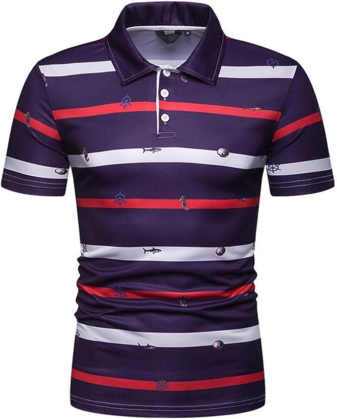 YpingLonk_ Camisetas de Hombre Camisa Polo, Primavera y ...
