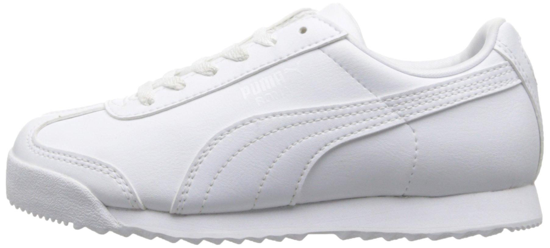 PUMA Roma Basic Kids Sneaker (Toddler/Little Kid/Big Kid), White/Light Gray, 2.5 M US Little Kid by PUMA (Image #5)