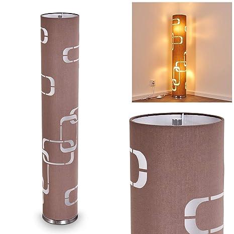 Lámpara de pie Tolbert marron - para dormitorios - Salón - Esta lámpara tiene un interruptor de pie en el cable