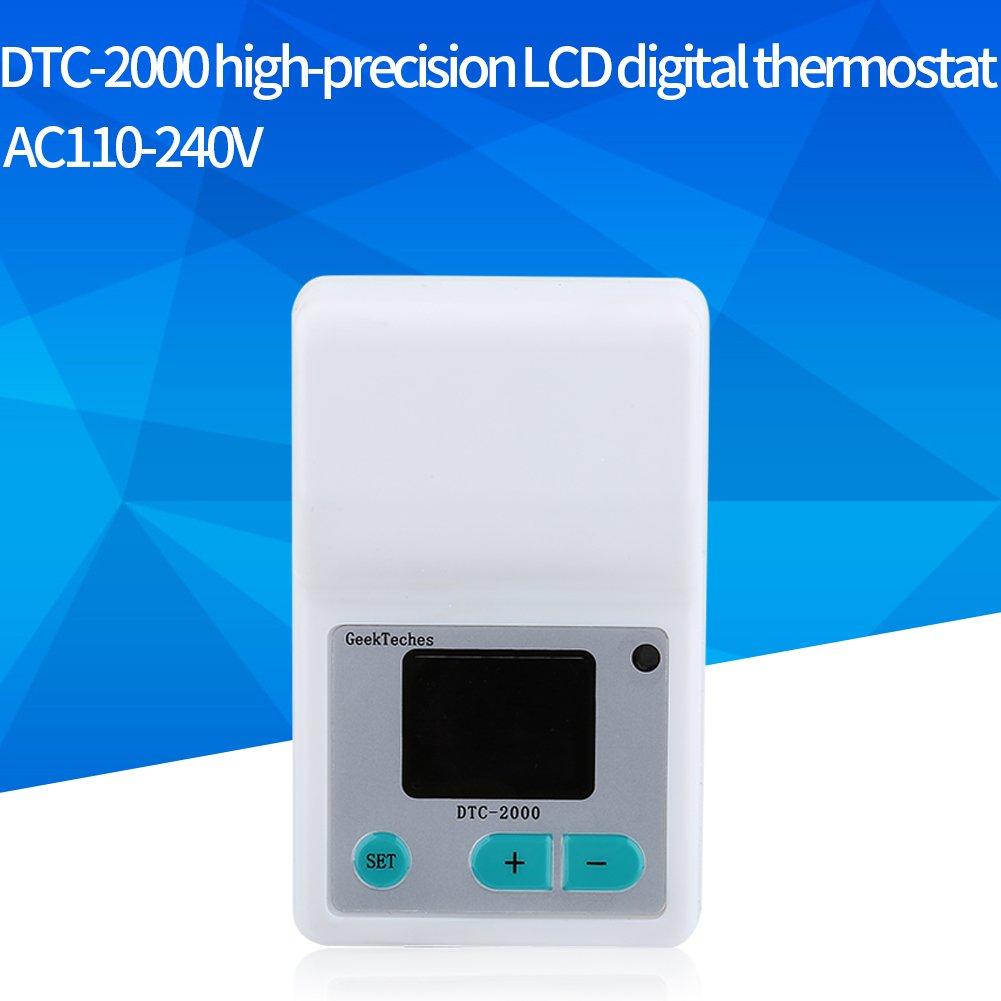 Akozon LCD Water Temperature Controller DTC-2000 Precision DigitalLCD Digital Wasser Temperatur Controller Thermostat for Aquaculture mit Thermoelementen Wasserdicht Sensor Sonde by Akozon (Image #5)