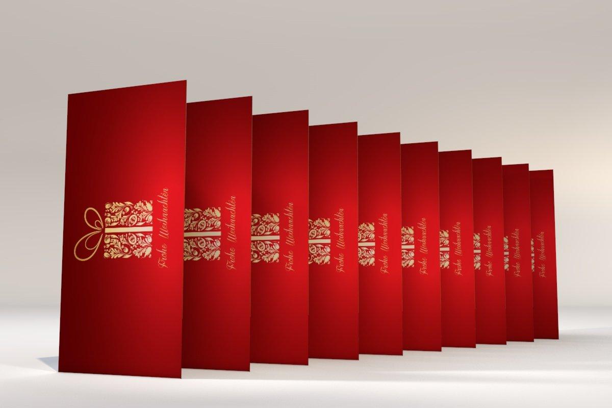 Weihnachtskarten Weihnachtsgeschenk, 50 Stück, Klappkarten ...