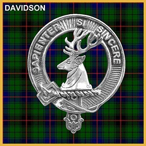 Davidson Scottish Clan Badge Decanter