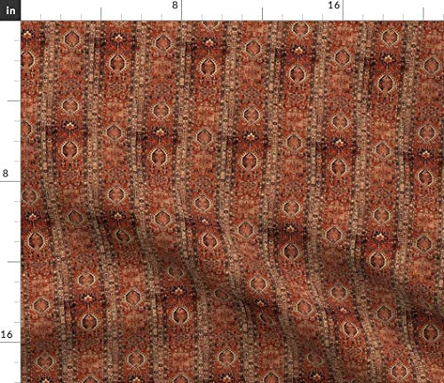 (Spoonflower Honeycomb Fabric - Rug Persian Oriental Indian Carpet Runner Print on Fabric by The Yard - Velvet for Upholstery Home Decor Bottomweight Apparel)