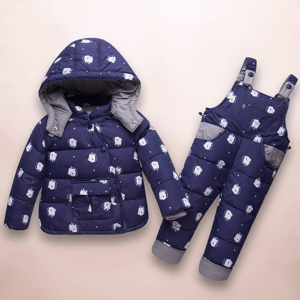 LPATTERN Winter 1-3 Jahre Alt Baby Anzug Dicke Warme Kapuze Kinder Daunenjacke