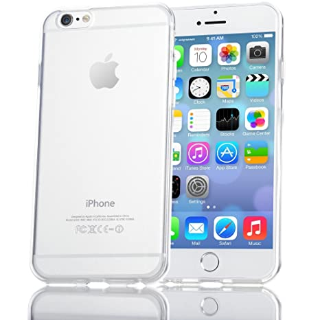 NALIA Funda Compatible con iPhone 6 Plus 6S Plus, Ultra-Fina Protectora Movil Carcasa Transparente Silicona Gel Bumper Estuche, Goma Cubierta Delgado ...