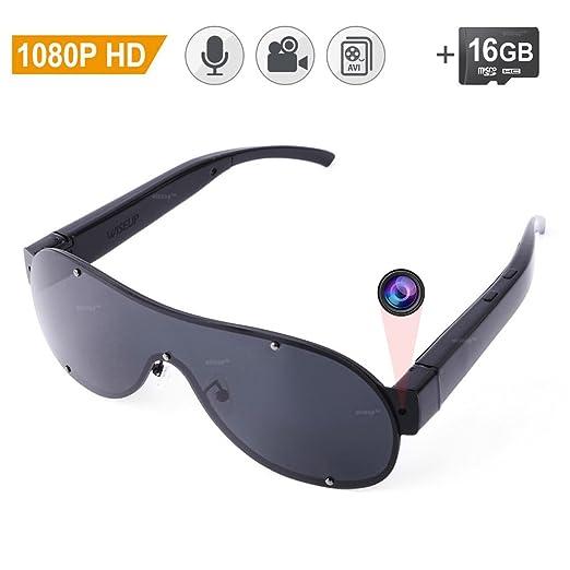 2 opinioni per WISEUP 16GB 1920x1080P Full HD Spia Occhiali da Sole Macchina Fotografica Mini