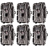 Bushnell 24MP Trophy Cam HD No Glow Trail Camera with Color Viewer - 6-Pack