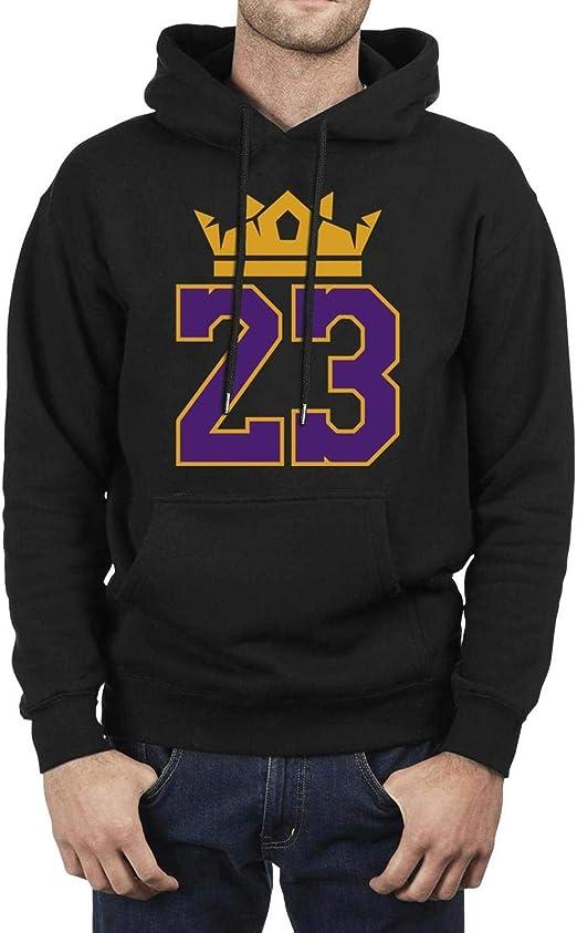 Mens King-Goat-#23-Player Classic Fleece Black Pullover Warm Winter Hoodies Sweatshirts