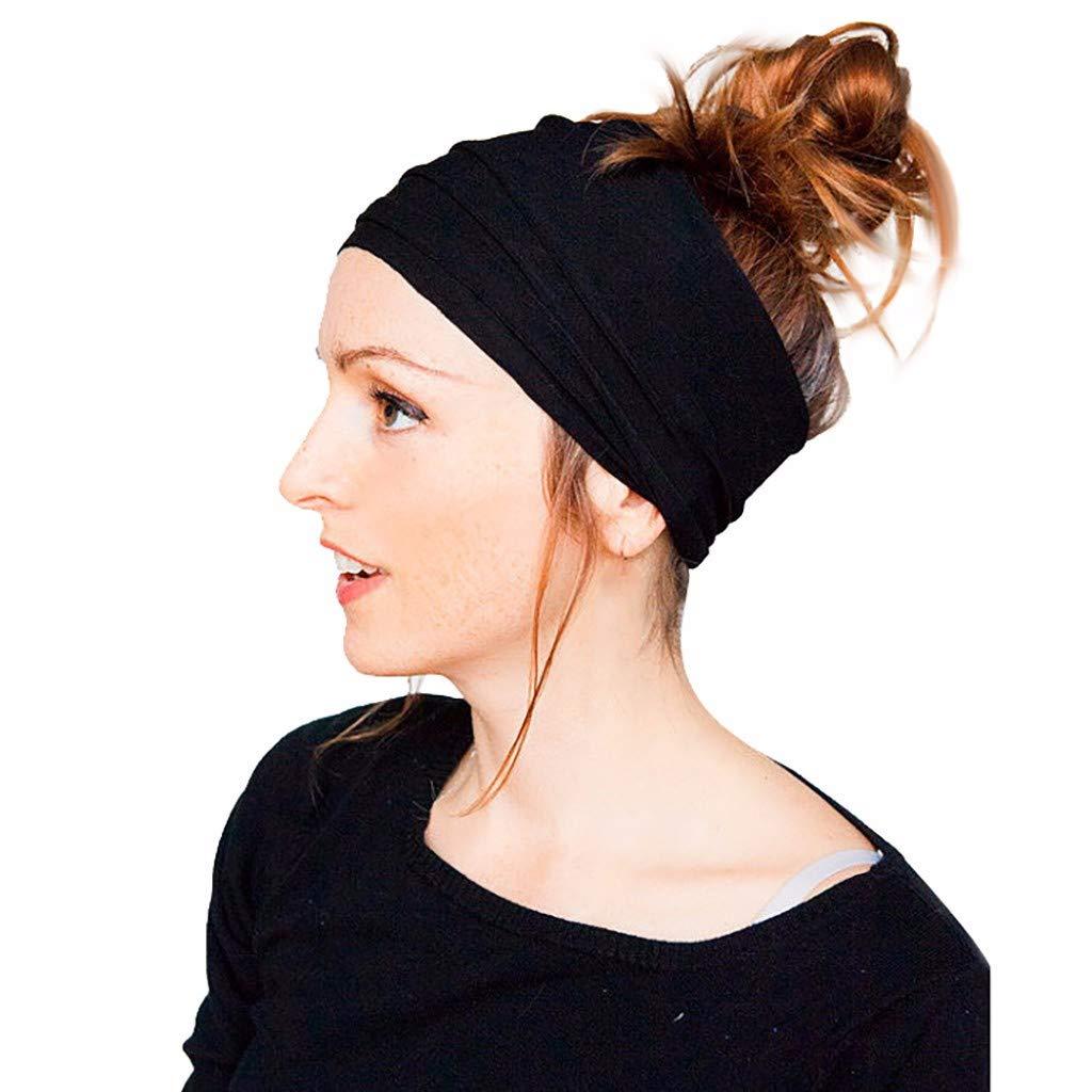 Aiserkly Women Workout Headband Lightweight Simple Sweet Head Wrap Sports//Yoga//Pilates//Dancing//Running//Cycling//Fitness Exercise//Travel