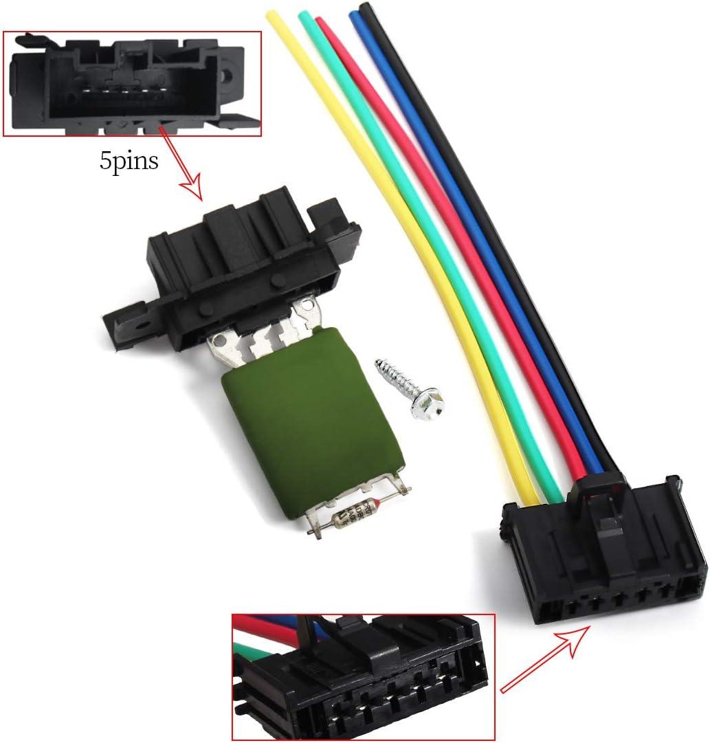 Resistenza ventilatore Sostituzione resistore ventola motore in metallo di alta qualit/à adatto per 206 Xsara 6450EP 6450.EP