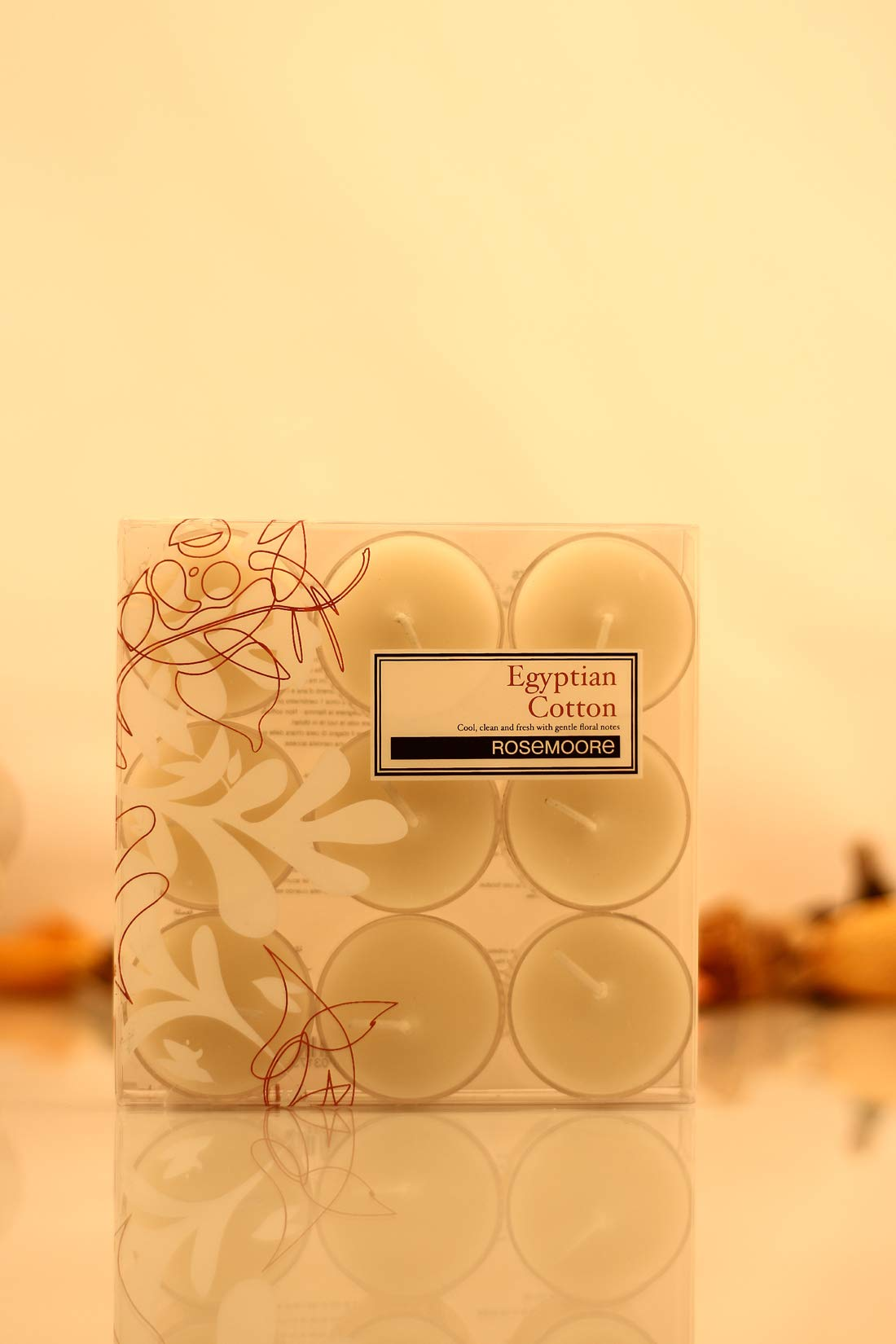 Rosemoore White Egyptian Cotton Scented Tea Lights For Living Room, Washroom, Bedroom, Office by Rose and Moore (Image #1)