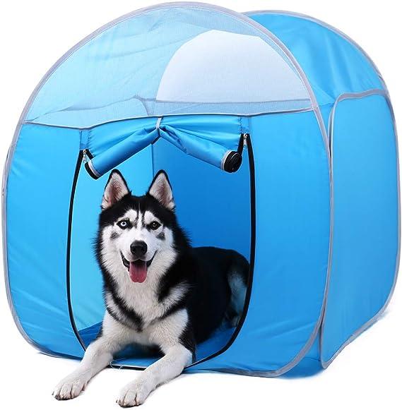 Zhyaj Hundehütte Outdoor Isoliert Faltbar Haustierzelt Käfig