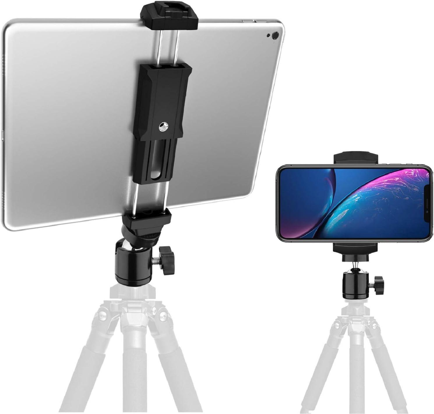 iPad Mount for Tripods with Ball Head /& Bluetooth Remote Shutter TabMount 360 KobraTech iPad Tripod Mount
