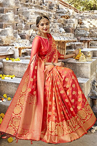 8 Sari Orange Rajasthani Women Traditional for Facioun Color Sarees Da Indian Ethnic SqHRHT