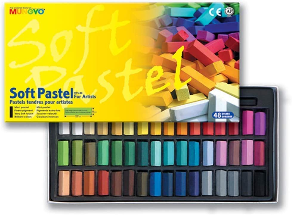Non Toxic Mungyo Soft Pastel Set of 48 Assorted Colors Square Chalk(US English version)