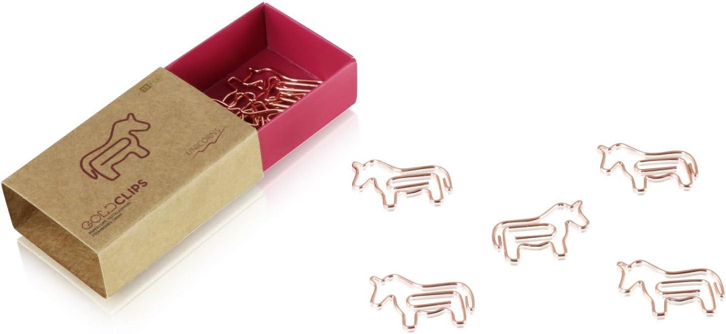 15 St/ück in jeder Verpackung Notenschl/üssel in Rosegold Goldclip B/üroklammer Clef