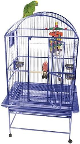A E Cage 9002422 Black Dome Top Bird Cage, Medium
