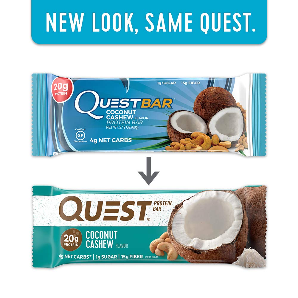 Amazon.com: Quest Nutrition Protein Bar, Coconut Cashew, 20g Protein ...