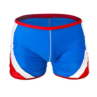 GARQEN Men Briefs Swimwear Trunks Knee-Length Trunk Swimsuit for Young Male Bathing Suit Brief
