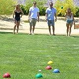 GoSports 90mm Backyard Bocce Set with 8 Balls, Pallino, Case and Measuring Rope | Choose Hard Resin Balls or Soft Rubber Balls, Classic Resin Balls