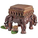 M.E.R.A. Footstool, The Maharajah's Elephants Sculptural Upholstered Footstool,