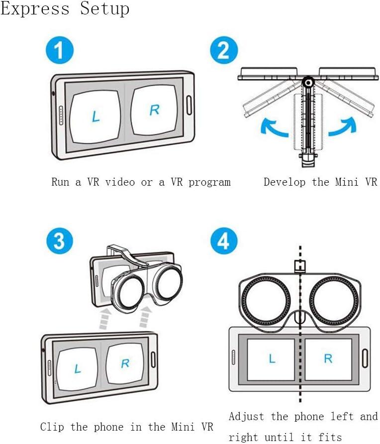 VR Casques 3D Lunettes de r/éalit/é virtuelle pour Tous Les Smartphones 3,5-6 Pouces Virtual Real Store Google Carton