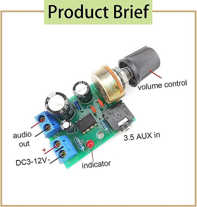 Mini LM386 Audio Amplificateur Board DC 3 V 5 V 12 V micro AMP Module 750 mW À faire soi-même