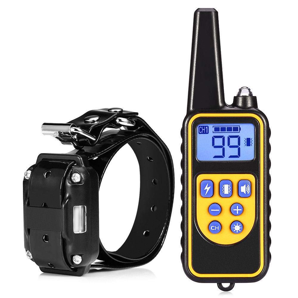 JXBDP Dog Training Clothes Tie Remote Control Beginner Dog Electric Training Clothes With Waterproof Rechargeable for Various Sizes of Dog LCD Monitor 800 Meters