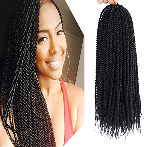 "Befunny 8Packs 14"" Crochet Braids Senegalese Twist Crochet Hair Small Havana Mambo Twist Hair Dark Brown Crochet Braiding Hair Senegal Twists For Black Women 20strands/pack(14"", 2#)"
